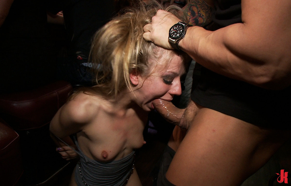 Sluts forced to suck cock
